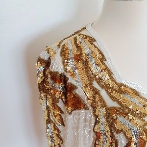 Vintage | Lillie Rubin Sequin Midi Evening Dress